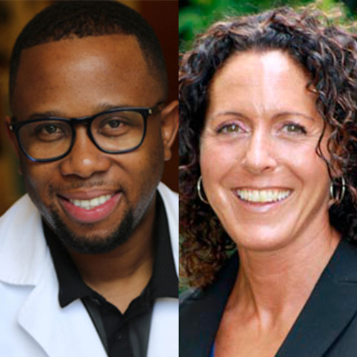 Headshots of Dr. Zwade Marshall and Dr. Andrea Elkon of Alliance Spine and Pain Centers