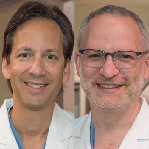 Dr. Vasilis Babaliaros and Dr. Adam Greenbaum of Emory Structural Heart & Valve Center