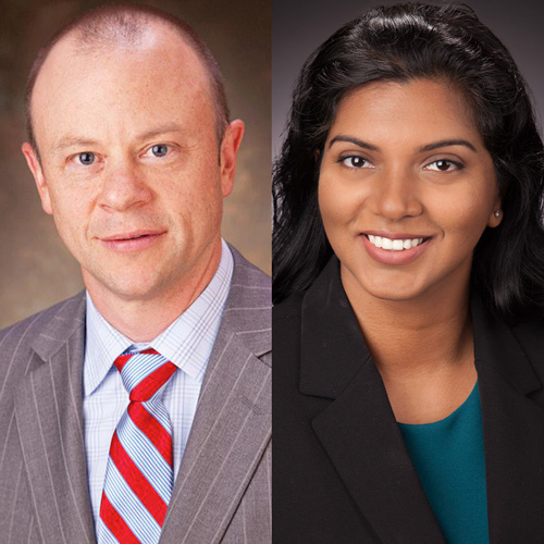Dr. James Reeves and Pavani Kolakalapudi