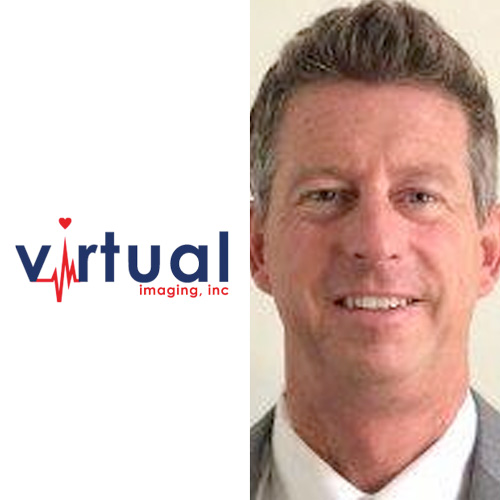 Virtual Imaging logo and headshot of Dr. Clark Drigger of ReNU MD.